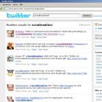 Suche auf der Twitter-Seite nach Socialbreakfast