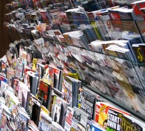 gedruckte Zeitschriftenvielfalt - klassische bezahlte Inhalte