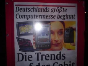 München, 2. März 2010 - AZ zur CeBIT 2010 mit altem Palm-Rechner