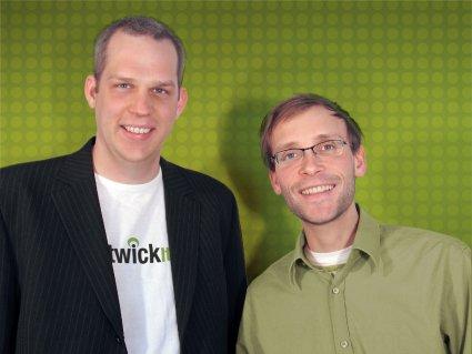 Die Twick.it-Macher Markus Möller und Sean Kollak.