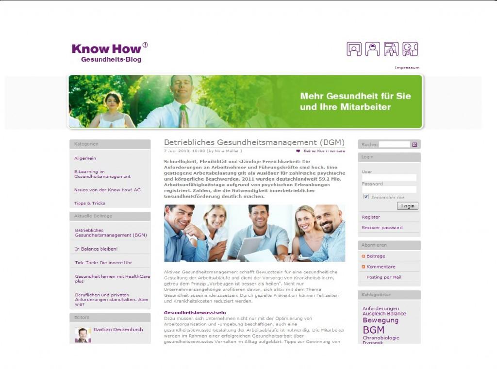 Know how Gesundheitsblog